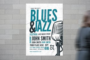 Blues & Jazz Music Flyer