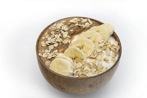 Smoothie bowl yogurt with peanut but