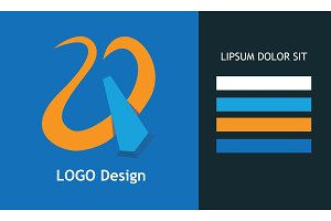 Vector Logo Design. Abstract symbol