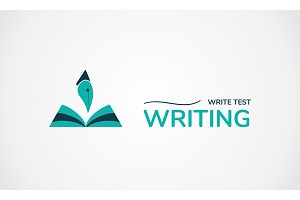 Write test Logo. Creative symbol