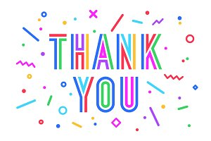 Thank You. Greeting card, banner