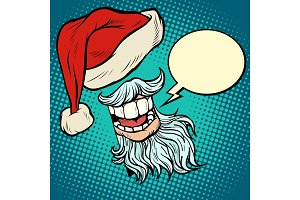 Santa Claus beard and hat