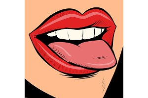 woman sexy tongue