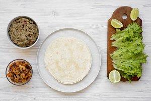 Shrimp taco ingredients