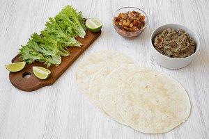 Shrimp tacos ingredients