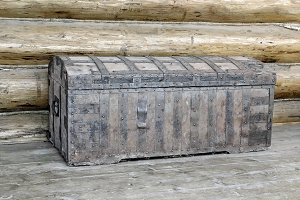 Ancient wooden chest