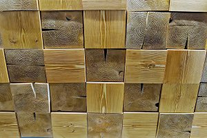 Wooden pieces of square shape