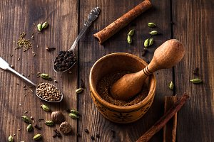 Tradition indian garam masala with