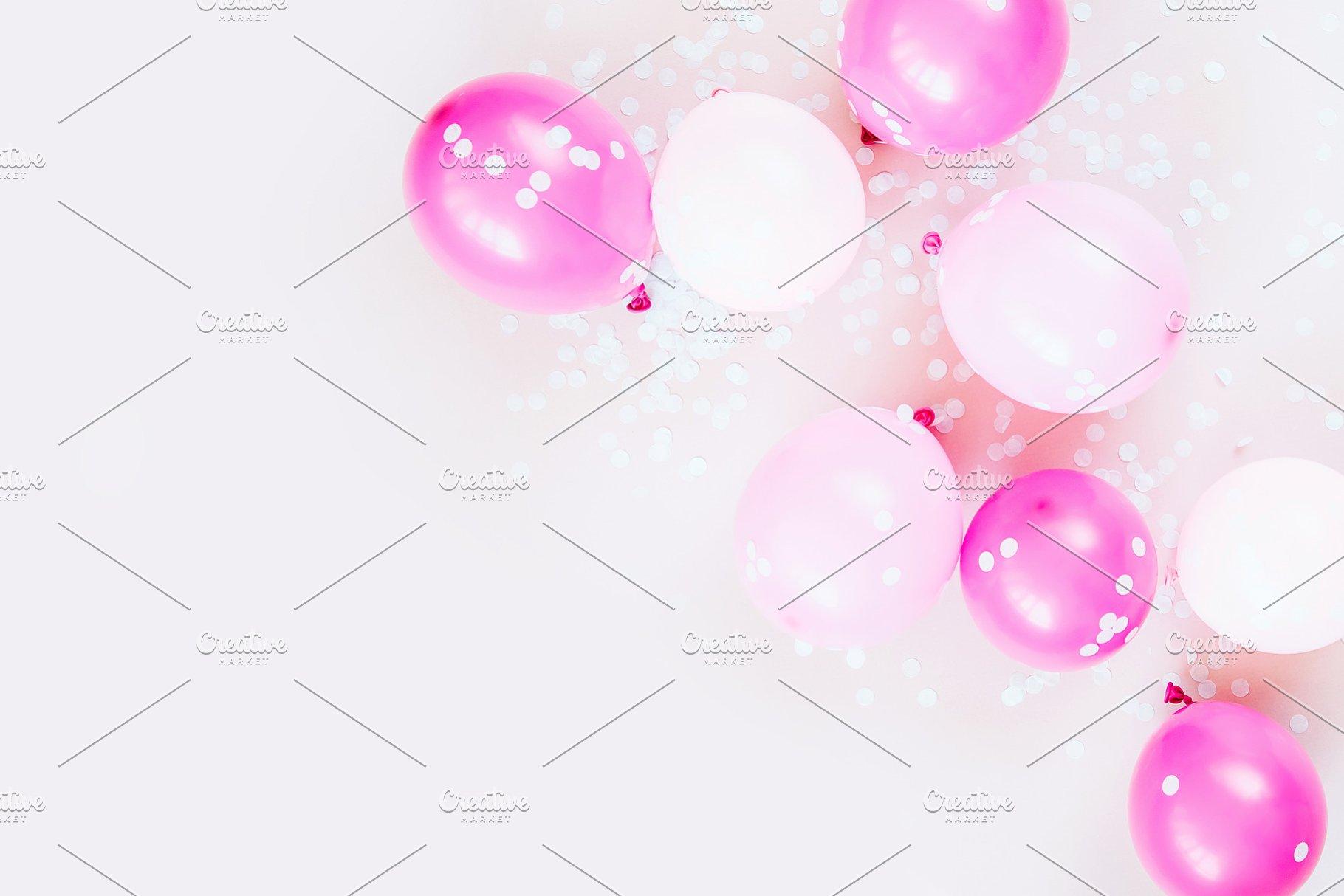 Pink Balloons Abstract Photos Creative Market