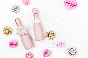 Pale Pink Mini champagne bottles