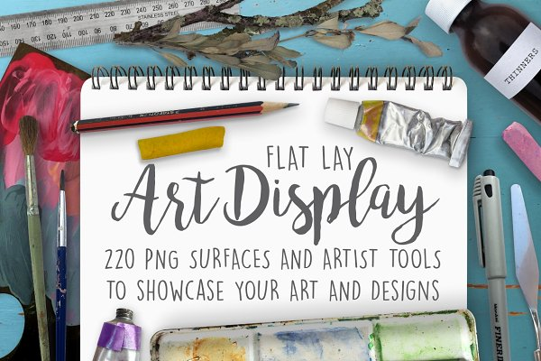 Flat lay Art Display Scene Creator