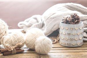 cozy warm still life
