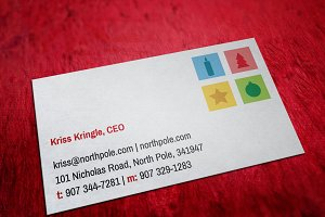 Santa Claus Christmas Business Card
