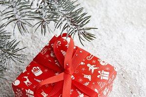 Christmas red gift box