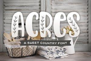 Acres Font