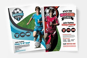 A4 Soccer Camp Posters / Flyers