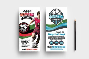Soccer Camp DL Card Template
