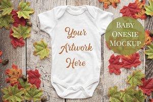 Babysuit, Onesie Mockup-Autumn