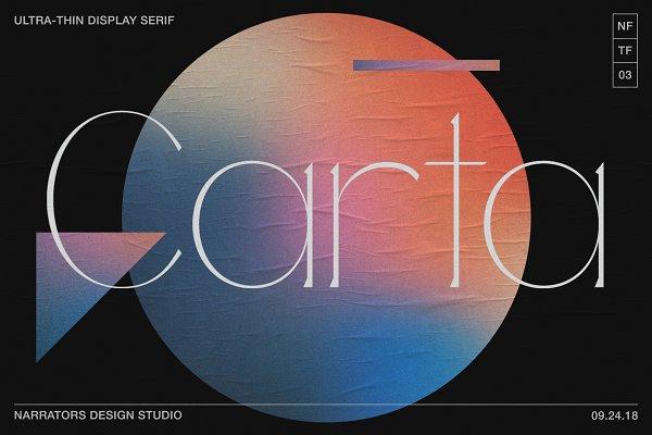 Serif Fonts: Narrators Studio - NF Carta - Elegant Display Serif