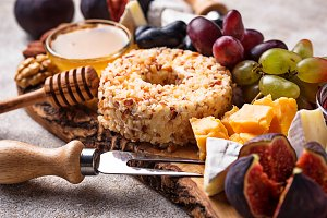 Appetizer for wine, cheese plate