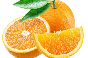 Orange fruit and slices.