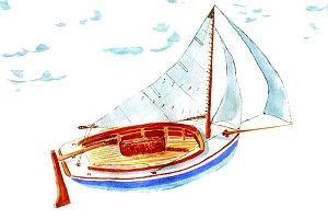 Sailing sloop Artwork