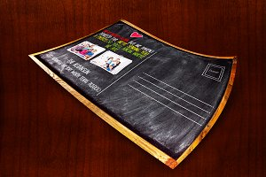 Chalkboard Moving Announcements Card