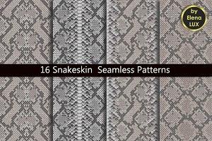 Snakeskin Seamless Pattern Set