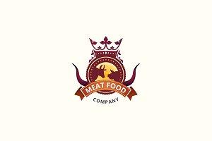 Meat Food Logo