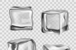 Realistic crystal ice cubes