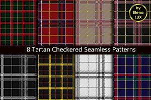 8 Tartan Seamless Patterns