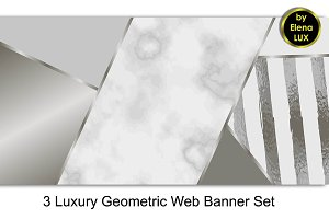 Geometric Web Banner Set
