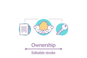 Ownership concept icon