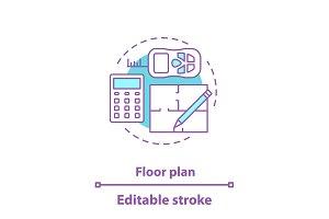 Floor plan concept icon