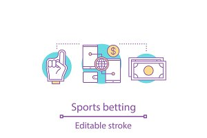 Sports betting concept icon