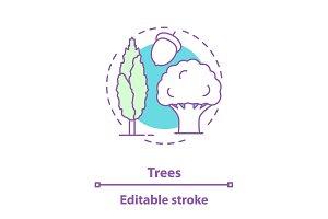 Trees concept icon