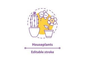 Houseplants concept icon