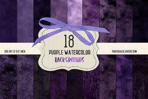 Purple Watercolor Digital Paper