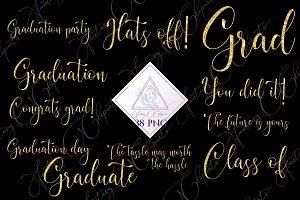 Graduation Word Art Clipart