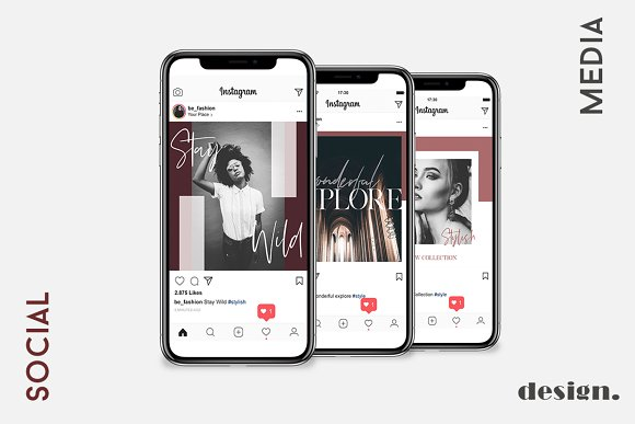 Stylish Social Media Pack  in Instagram Templates - product preview 2
