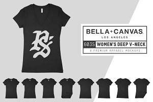 Bella Canvas 6035 Ladies Deep V-Neck