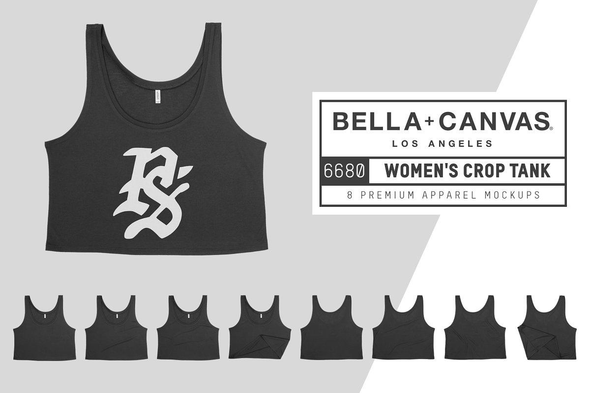 a6a29721bc6a7 Bella Canvas 6680 Women s Crop Tank ~ Product Mockups ~ Creative Market