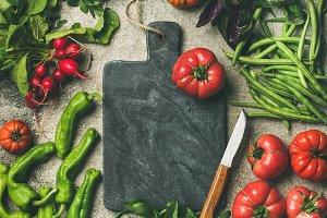 Healthy seasonal food cooking