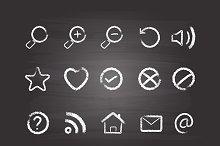 Web Icons (chalk style)