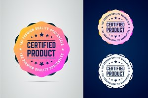 Certified product badge