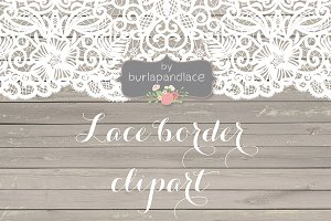 Vector Lace border clipart