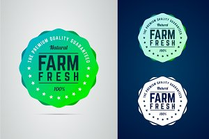 Farm fresh badge.