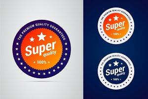 Super quality badge.