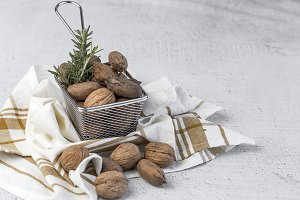 Dried fruits on light background