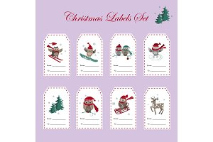 Christmas Gift Tags with Owls